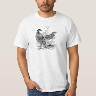 Vintage Quail Birds - Personalized Retro Game Bird T-Shirt