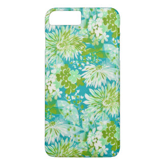 Vintage Quaint Spring Flowers Fabric Look iPhone 7 Plus Case