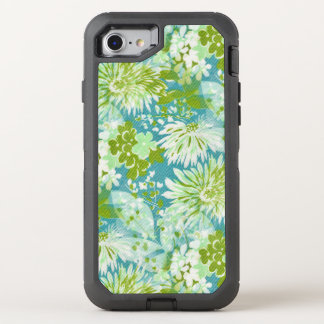 Vintage Quaint Spring Flowers Fabric Look OtterBox Defender iPhone 7 Case