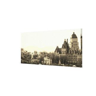 Vintage Quebec City Canvas Print