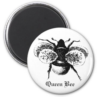 Vintage Queen Bee 6 Cm Round Magnet