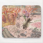 Vintage Queen Bee Beautiful Girly Art Print Mouse Mat