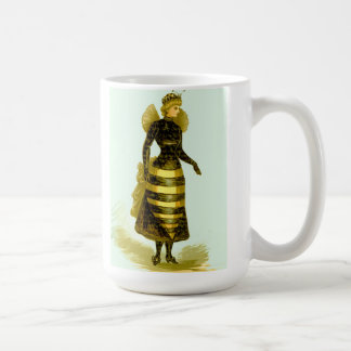 Vintage QUEEN BEE or Hornet Woman in Costume MUG