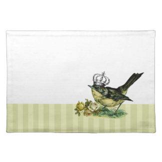 Vintage Queen Bird. Valentine's Day Gift Placemats