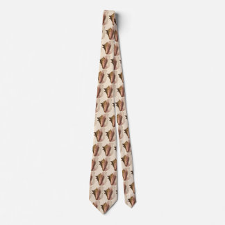 Vintage Queen Conch Seashell Shell, Marine Animal Tie