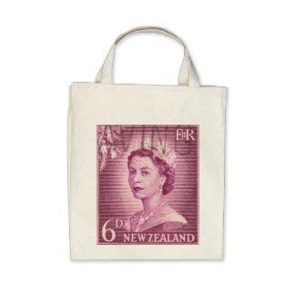 Vintage Queen Elizabeth Australia Australian Canvas Bag