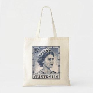 Vintage Queen Elizabeth Australia Australian Budget Tote Bag