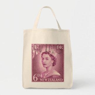 Vintage Queen Elizabeth Australia Australian Grocery Tote Bag