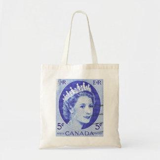 Vintage Queen Elizabeth Canada Canvas Bag