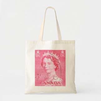 Vintage Queen Elizabeth Canada Budget Tote Bag