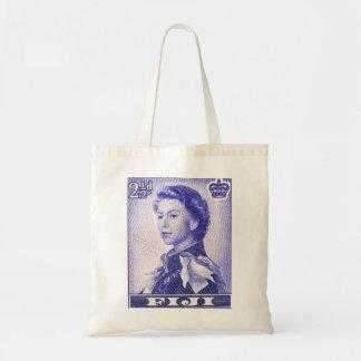 Vintage Queen Elizabeth Fiji Tote Bag