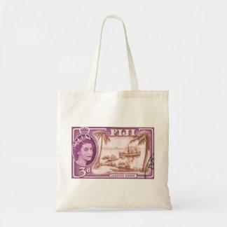 Vintage Queen Elizabeth Fiji Budget Tote Bag