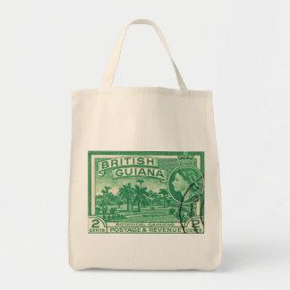 Vintage Queen Elizabeth Guiana Grocery Tote Bag