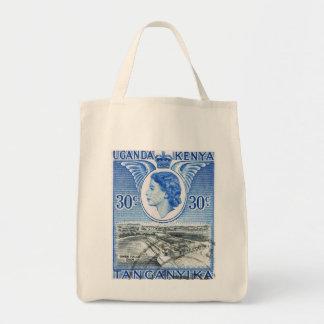 Vintage Queen Elizabeth II Kenya Grocery Tote Bag