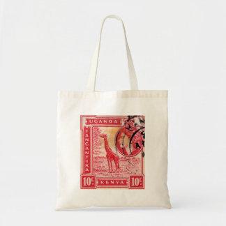 Vintage Queen Elizabeth II Kenya Canvas Bags