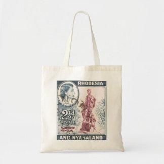 Vintage Queen Elizabeth II Rhodesia Budget Tote Bag