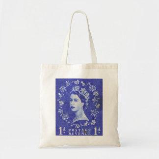Vintage Queen Elizabeth UK Britain Budget Tote Bag