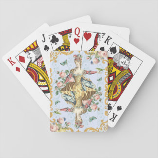 Vintage queen / lady floral feminine playing cards