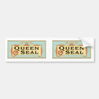 Vintage Queen Seal Cigar Label Car Bumper Sticker
