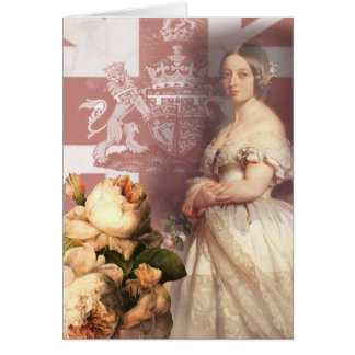 Vintage Queen Victoria Happy Birthday Greeting Card