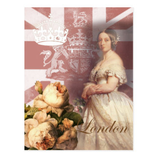 Vintage Queen Victoria London Postcard