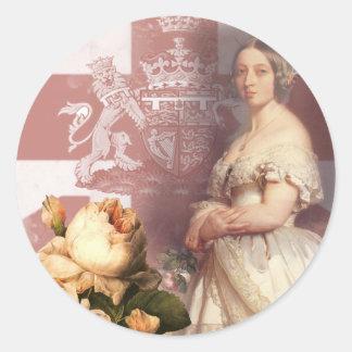 Vintage Queen Victoria Round Sticker