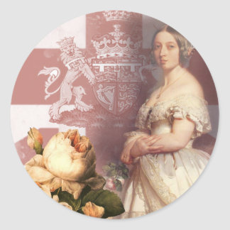 Vintage Queen Victoria Round Stickers