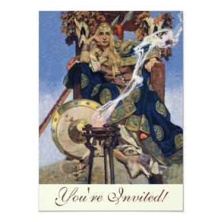 Vintage Queen Warrior Woman 11 Cm X 16 Cm Invitation Card