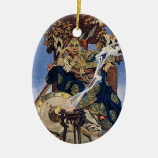 Vintage Queen Warrior Woman Christmas Ornament