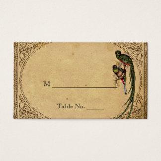 Vintage Quetzal Bird Elegant Wedding Place Cards