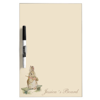 VINTAGE RABBIT WITH A CARROT, BUNNY WRITING BOARD Dry-Erase BOARDS