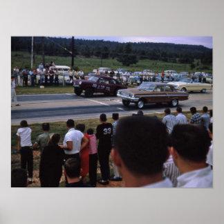 Vintage race cars poster