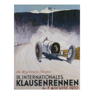 Vintage Racing Car Transport Poster print