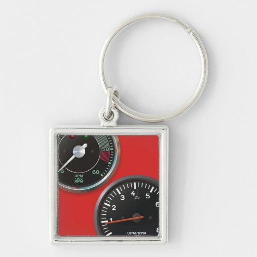 Vintage racing instruments: Classic car gauges Key Chains