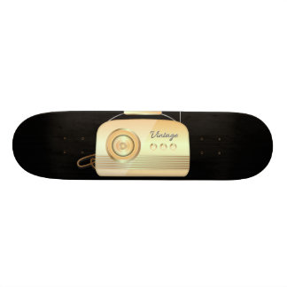 Vintage Radio Cream & Black 20.6 Cm Skateboard Deck