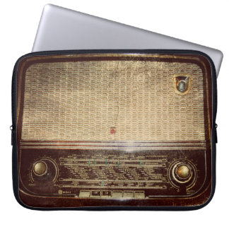 Vintage radio laptop sleeve