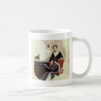 vintage radio paint 1900s coffee mug