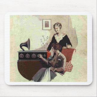 vintage radio paint 1900s mouse pad