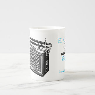 Vintage Radio personalized 90th Birthday Mug