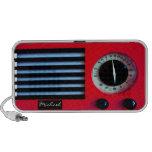 Vintage Radio- Red iPhone Speakers