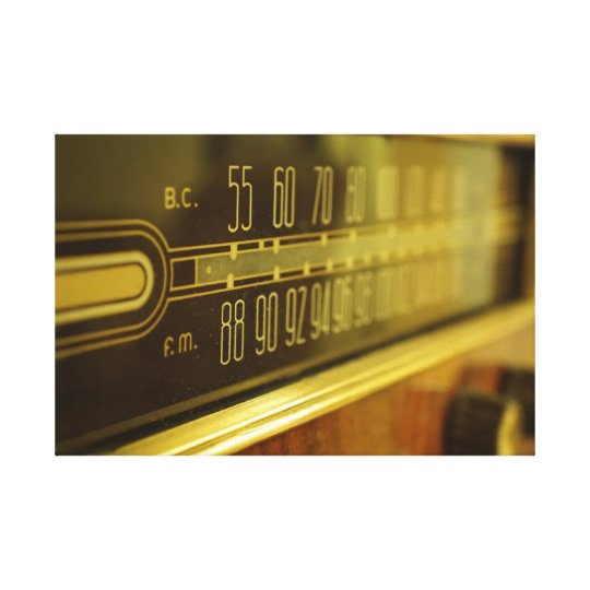 Vintage Radio - The Glow Canvas Print