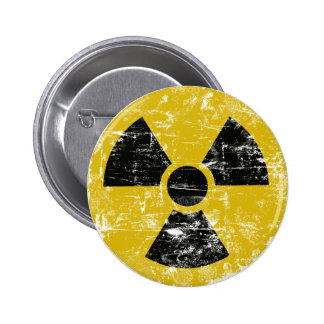Vintage Radioactive 6 Cm Round Badge