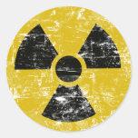 Vintage Radioactive Round Sticker