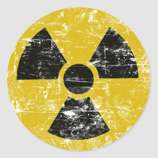 Vintage Radioactive Round Sticker