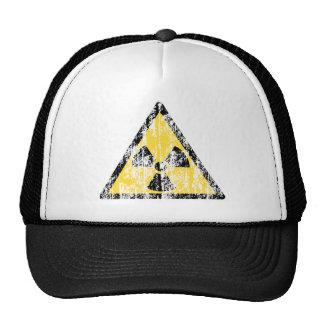 Vintage Radioactive Warning Sign Hat