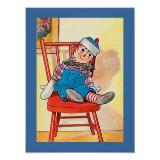 Vintage RAGGEDY ANDY Image Poster