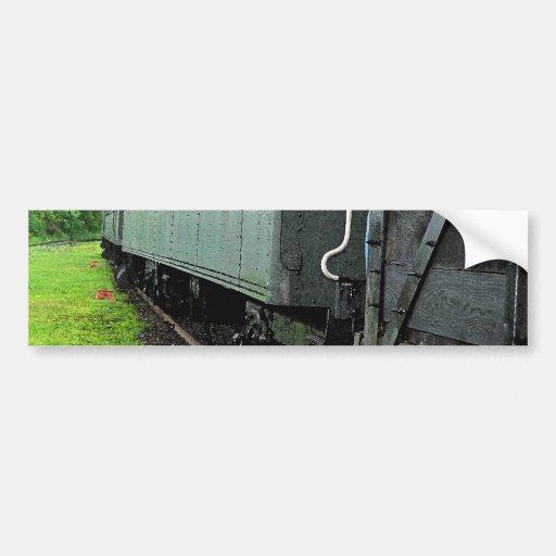 Vintage Railcars Bumper Sticker