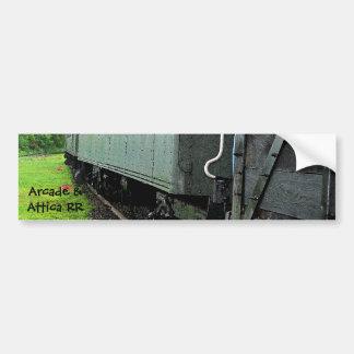 Vintage Railcars (Lettering) Bumper Sticker Car Bumper Sticker