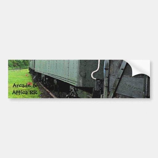 Vintage Railcars (Lettering) Bumper Sticker