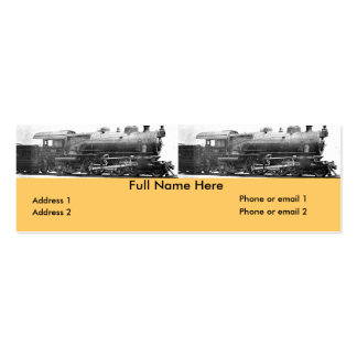 Vintage Railroad Photograph Bookmark Pack Of Skinny Business Cards